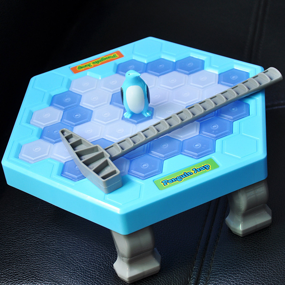 HOT Save Penguin Ice Kids Puzzle Game Break Ice Block Hammer Trap Party Toy Christmas Gift Educational Ring Numbers gift for
