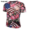 2018 American Flag 3D Print Men Women Compression TShirt Movement Tattoo Comfortable Fitness Unisex Size5XL The