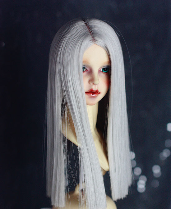 D01-p473 Children Handmade Toy 1/3 1/4 Doll Accessories Bjd/sd Doll Wig Moore Gray Straight Hair 1pcs
