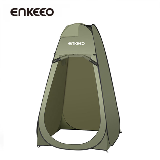 Enkeeo Portable Outdoor Pop Up Tent Camping Shower Bathroom Privacy - Camping bathroom tent