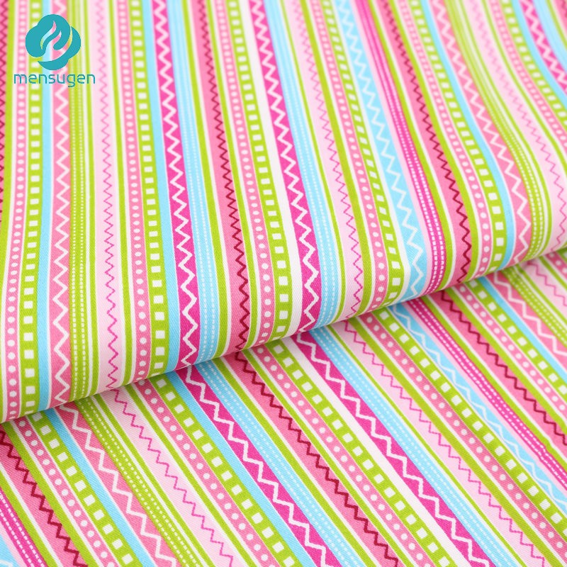 50cm 160cm bohemian colorful stripe cotton fabric for