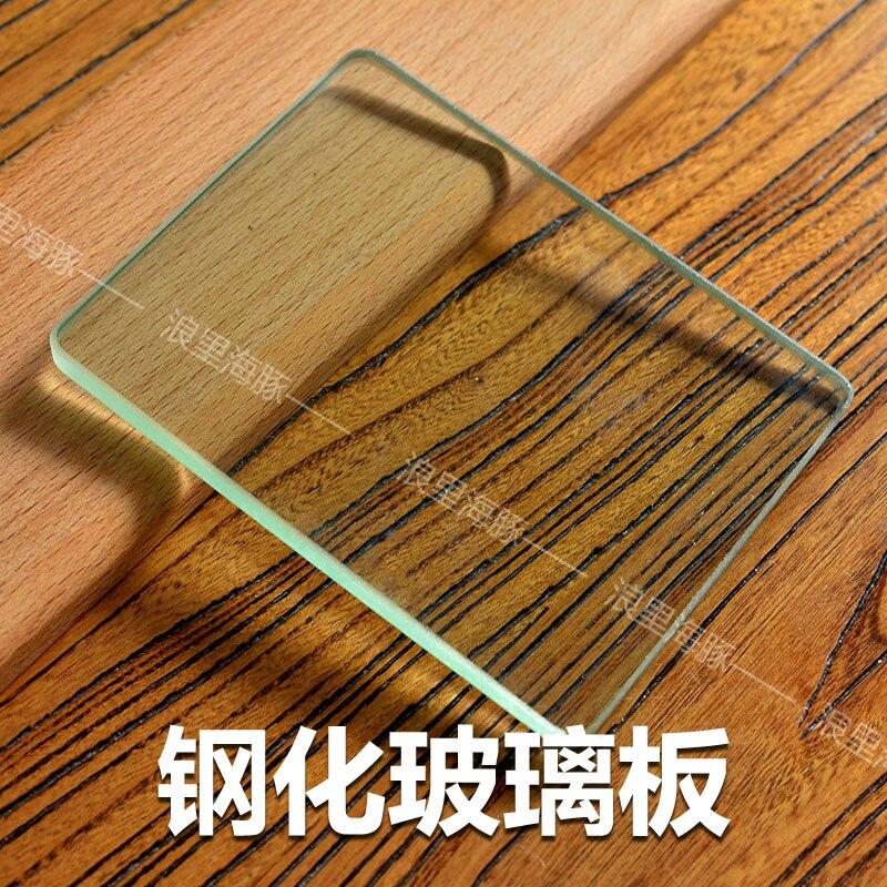 Leder Handwerk werkzeuge Gehärtetem Glas Slicker Schaben platte Leder versender für Polieren Leder sichern bord Leathercraft
