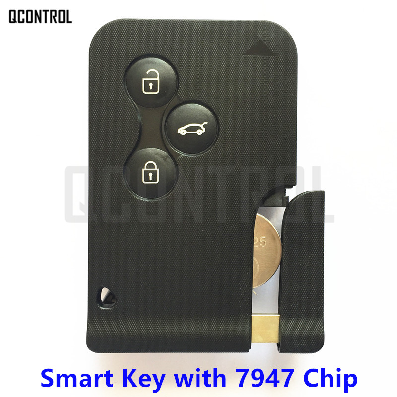 QCONTROL Car Remote Smart Key Suit for Renault Megane Scenic PCF7947 Chip