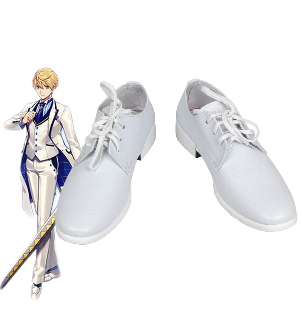 Fate Grand Order FGO Saber King Arthur Cosplay Shoes Boots Custom Made Any Size
