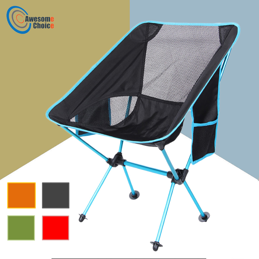 Beach Chairs Outdoor Furniture Garden Furniture Portable Chair Camping Stoel Camping Chair Folding Fishing Chair With Pedal Hot Shrink-Proof Outdoor Furniture Furniture