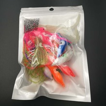10pcs/lot 9cm  octopus lure,squid jigs fishing lure soft lure sea fishing salt water big game bait skirt Mixed Color