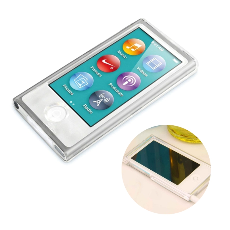 Clear Hard Shell Plastic Case Front Back Full Protection For Apple Ipod Nano 7