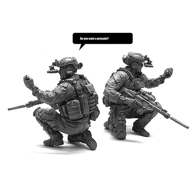 1/35 American Seal Team Resin Soldier Model Military Hobby Children Toys Ornaments LOO-11