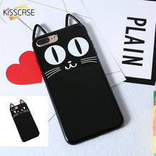 KISSCASE Black Cat Case For iPhone 6 6s Plus 5 5s SE Soft Silicone Cover For iPhone 5 5s 6 6s 7 8 Plus Luxury TPU Cases Capinhas(China)