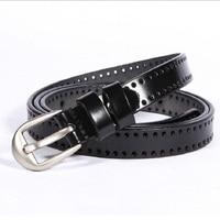 Factory direct leather belt Women's creative fine hollow belts Wild ladies belt GG belts for women