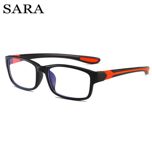 SARA Anti Blue Light Reading Glasses Women Men Clear Eyeglasses Eyewear Frame Computer Eye Glasses Classic Square Clear Lens