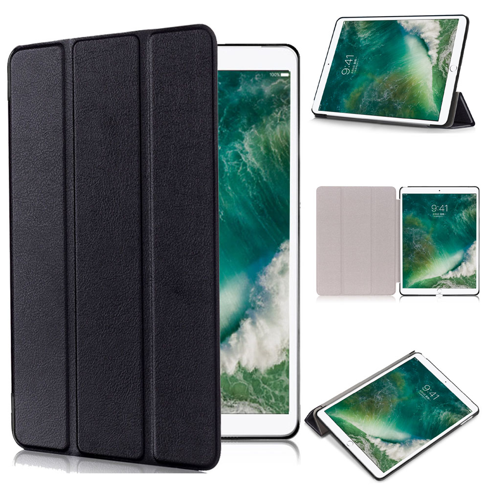 Ultraslim smart cover case for 2017 New Apple iPad Pro 10.5 inch A1701 A1709 pu leather book flip cover with Trifold Stand sleep