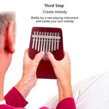 Красный 10 клавиш калимба «пианино для больших пальцев» традиционный музыкальный инструмент портативный отличный подарок портативный музыкальный инструмент для начинающих