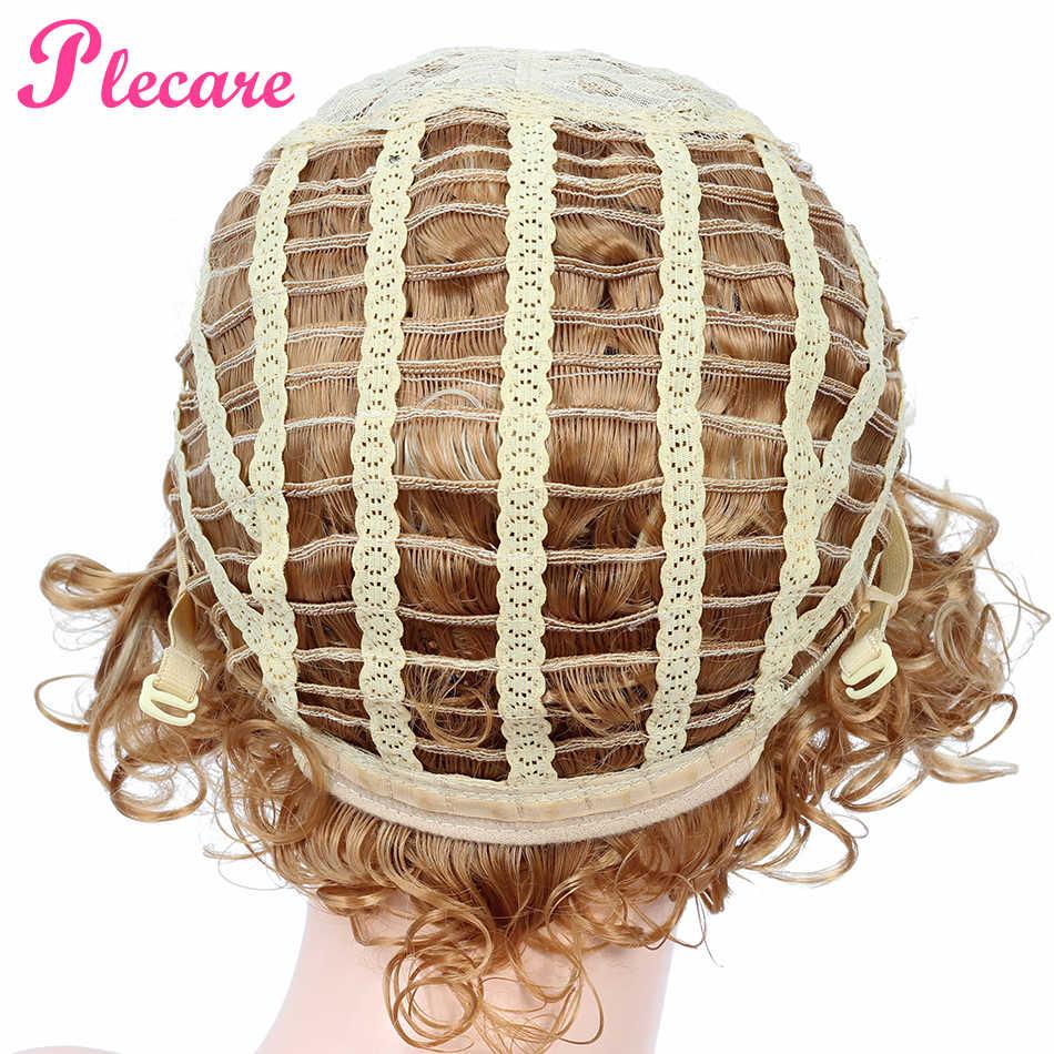 Plecare Kurze Afro Lockige Perücke Blond Braun Synthetische Perücke für Schwarze Frauen African Frisur Pruiken Cosplay Perücke