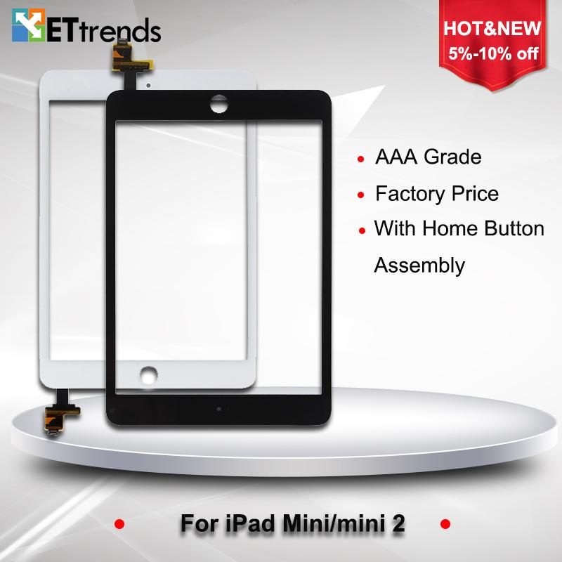 Prix pour 10 PCS/LOT de Haute qualité Digitizer Assemblée pour ipad mini/mini 2 digitizer écran en verre avec IC et La Maison bouton Bateau Libre par DHL