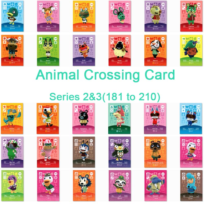 <font><b>Animal</b></font> <font><b>Crossing</b></font> <font><b>Card</b></font> <font><b>Amiibo</b></font> <font><b>Card</b></font> Work for NS Games Series 2&Series 3 (181 to 210) image