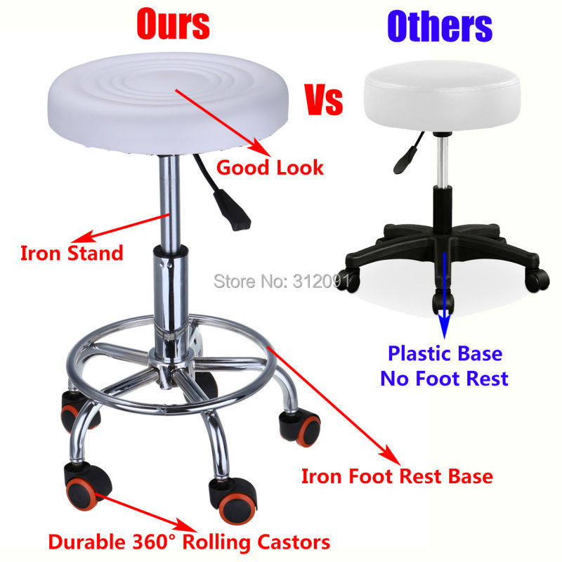 White Hydraulic Rollaway Master Chair Salon Spa Tattoo Bar Beauty Mage Stool In Tool Parts From Tools On Aliexpress Alibaba Group