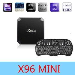 X96 mini S905W Android 7.1 Smart TV BOX 2GB16GB Amlogic S905w Quad Core 4K 30tps WiFi 2.4GHz HDMI X96MINI Set-top box