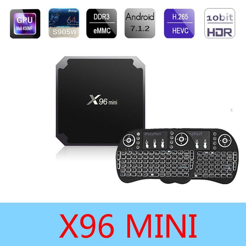X96 mini S905W Android 7.1 Smart TV BOX 2GB16GB Amlogic S905w Quad Core 4 K 30tps WiFi 2.4 GHz HDMI X96MINI Set-top box