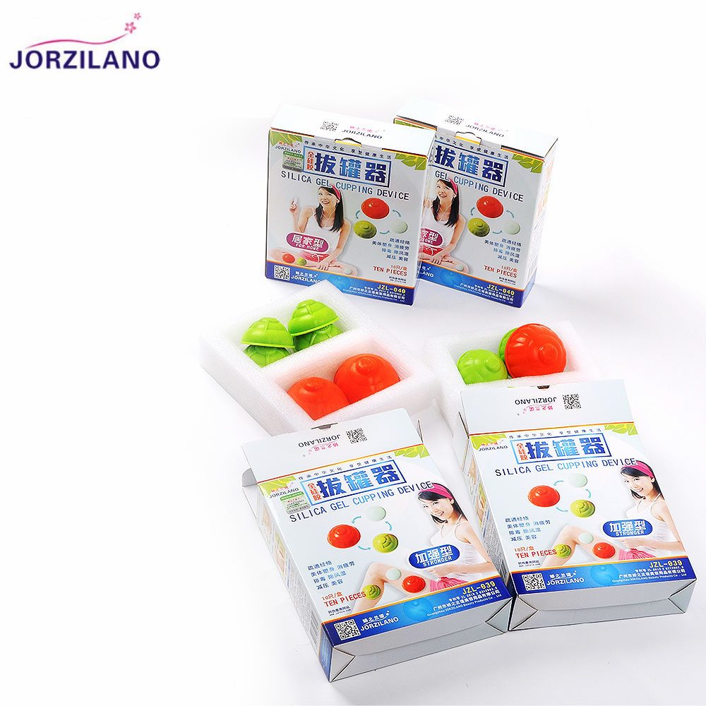 JORZILANO 10PCS/lot Health Care Silicone Vacuum Cupping Cups Neck Face Back Massage Cupping Cups Relax Full Body Massage Cup 1pcs silicone health care face eye anti age cupping cups facial lifting massage silicone cupping cups health care
