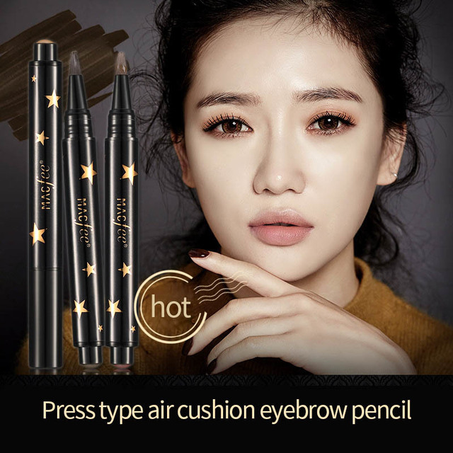 1 Pcs Black Brown Eye Brow Tattoo Press Kit Long Lasting Waterproof Liquid Mascara Cream Paint  Eyebrow Pencil Make Up 2