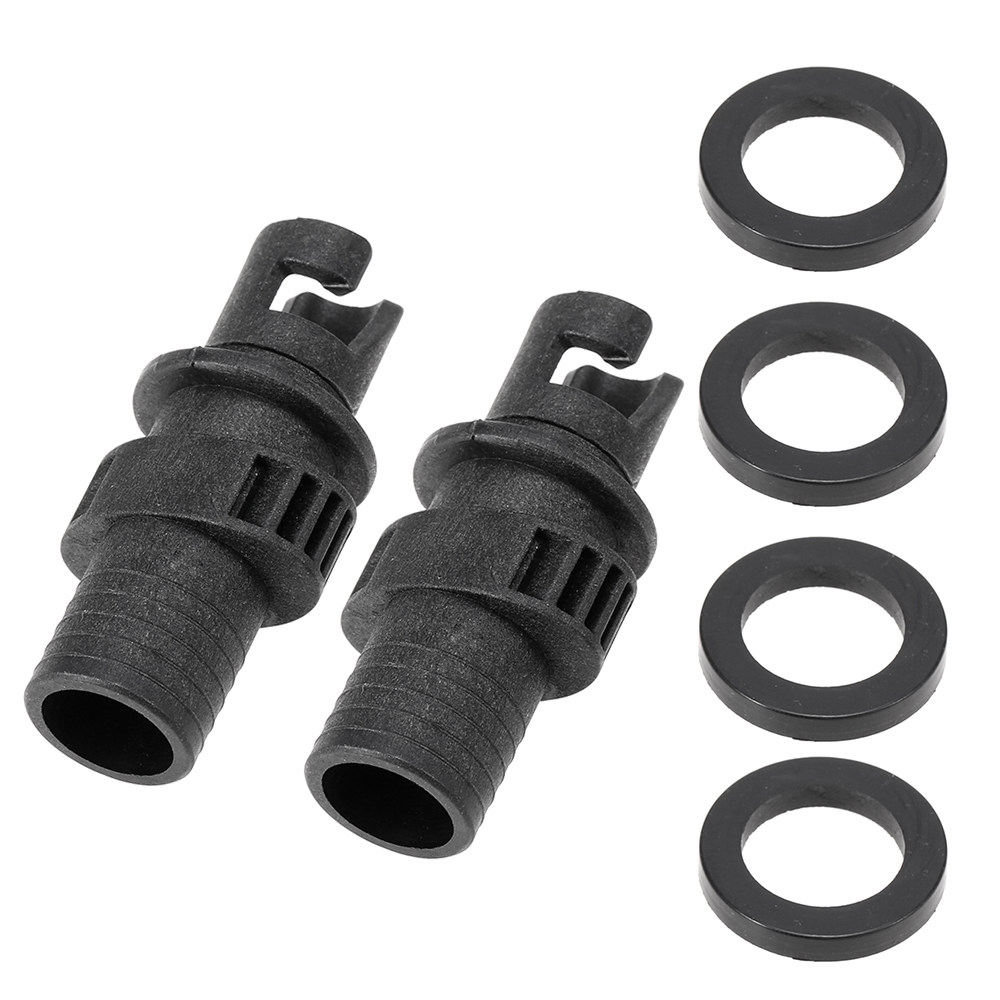 2Pcs Inflating Inflatable Boat SUP Board Air Pump Valve Adapter Connector