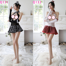 Newest Hot Erotic Costumes Sex uniform Set Cosplay Sexy Lingerie Baby Doll Women Underwear Cute Lace