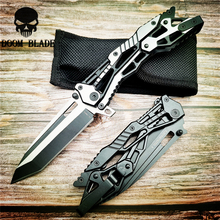 220mm 5CR15MOV Blade Knives Folding Knife Steel Handle Survival Pocket Knives Outdoor Camping Knife Hunting EDC Tools цены