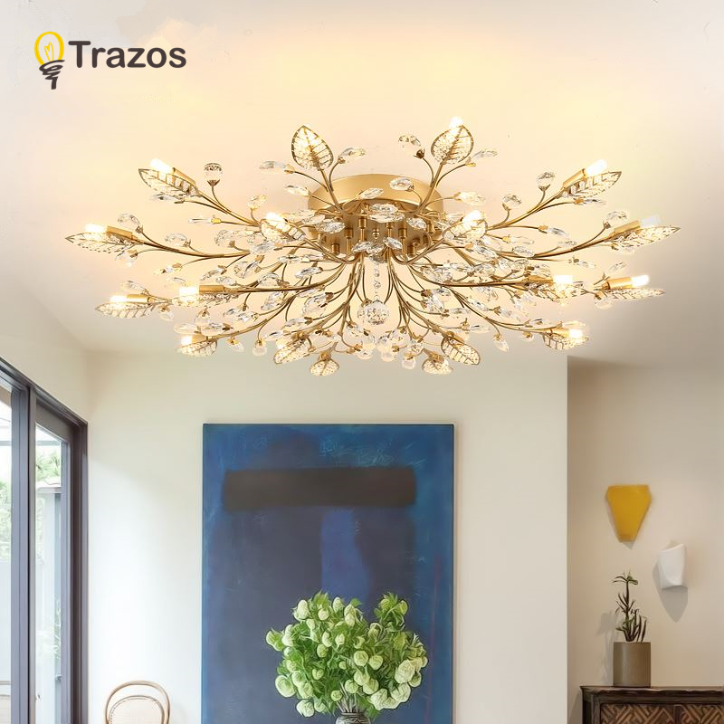 TRAZOS New item fancy ceiling light LED Crystal ceiling lamp modern lamps for living room lights,AC110-240V DIY Crystal lightingTRAZOS New item fancy ceiling light LED Crystal ceiling lamp modern lamps for living room lights,AC110-240V DIY Crystal lighting