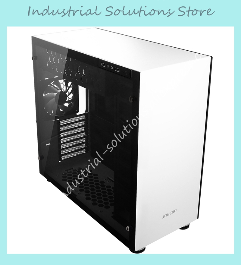 Jonsbo C4 chassis steel version double sided glass side support ATX motherboard support water-cooling only case ca arsenal slr105 a1 steel version