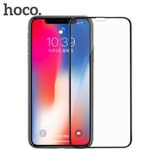 HOCO High-definition Gehärtetem Glas für IPhone X Ultra-thin Voll-bildschirm Nicht Gebrochen Rand für Apple IPhoneX Weiche Kante Glas Film