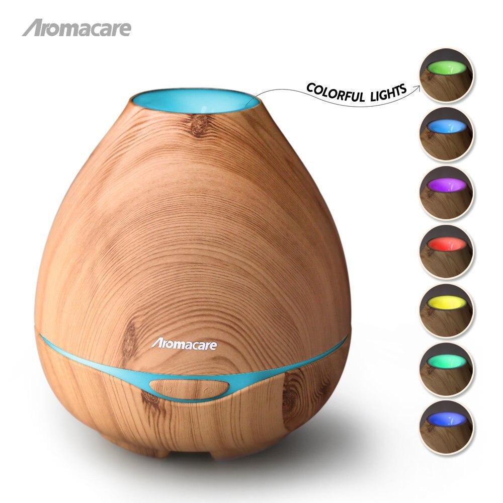 Aromacare 300ml Luchtbevochtiger Essentiële Olie Diffuser Aroma Lamp Aromatherapie Elektrische Geurverspreider Mist Maker voor Home-Wood