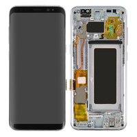 Оригинальный S8 плюс ЖК дисплей с рамкой для Samsung Galaxy S8 G950F Экран S8 плюс G955F активно матричные осид, Дисплей Сенсорный экран планшета