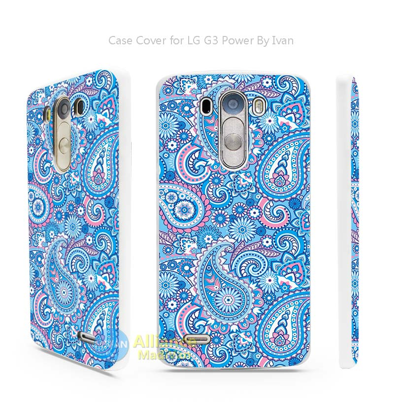 stic blue Hard White Cell Mobile Phone Case Cover for LG G3 G4 G5