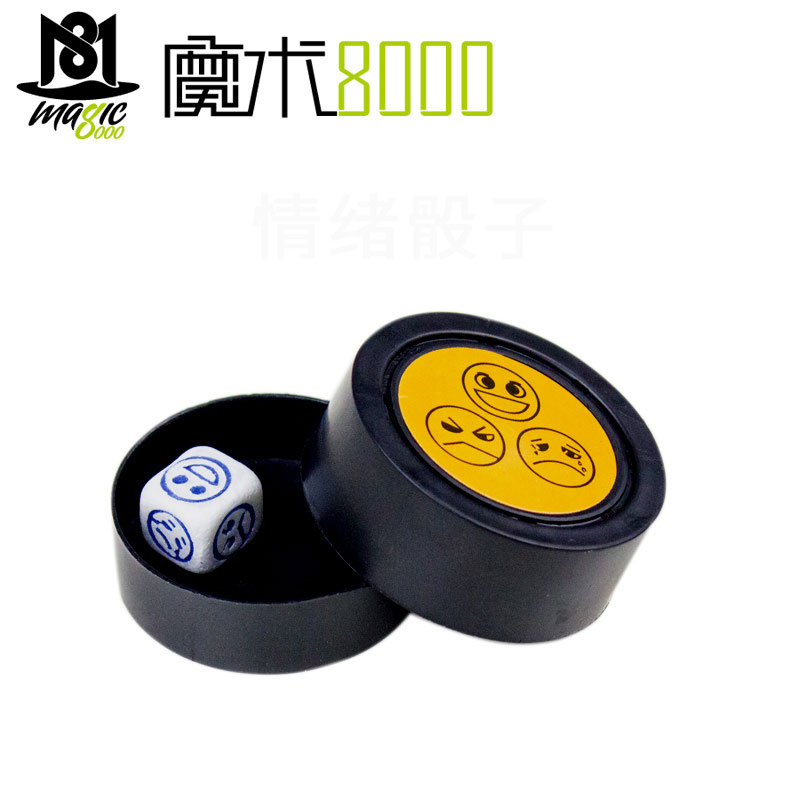 Magic Prediction Dice Magic Trick See Thru The Box Emotional Dice Emotions Dices Close Up Magic Trick Telepathy Face Magic