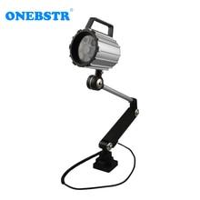 LED Strahler 7W 24V 220V Spot ışık su geçirmez IP67 takım tezgahı çalışma lambası uzun torna kolu Anti yağ aydınlatma ücretsiz kargo