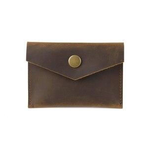 Moterm винтажный кожаный держатель для кредитных карт Crazy Horse, Ретро Держатель для визиток, мужские кошельки с застежкой, мини-держатель для кар...