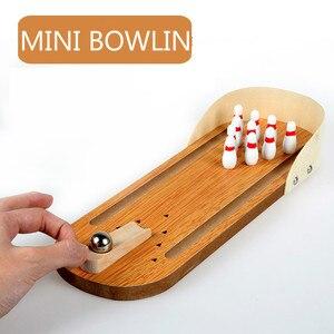 Image 1 - มินิโบว์ลิ่งเด็ก Interactive เกมเดสก์ท็อปโต๊ะไม้เด็กเกมของเล่น Rolling Ball เกมชั้นสำหรับเด็กของขวัญ