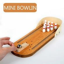 Mini Bowling Eltern kind Interaktive Desktop Spiel Holz kinder Tisch Spiele Spielzeug Rolling Ball Spiel Boden Party Kinder geschenke