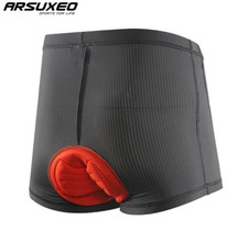 цена на ARSUXEO Cycling Underwear 3D Padded Bike Bicycle MTB Shorts Shockproof Black Underpant Bicycle Men's Cycling Shorts
