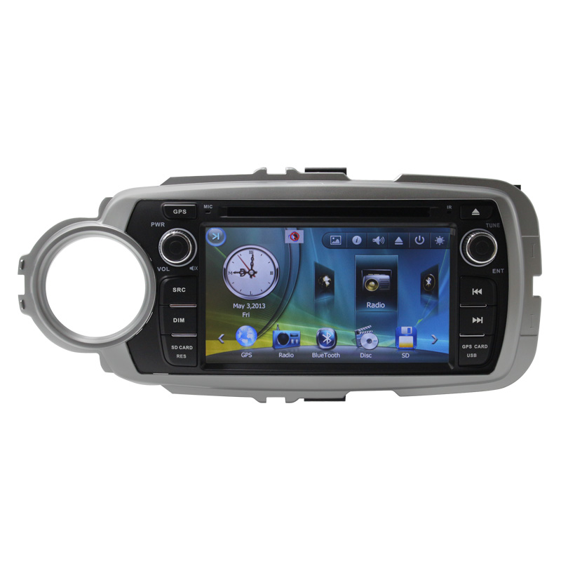 6 Capacitive HD Touch Screen Car Radio DVD Player For Toyoto 2012 Yaris Bluetooth RDS Multimedia