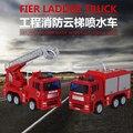 Gran Nueva Fireman Sam Lujoso Exquisita Aleación Modelo de Coche Camión de Bomberos Camión escalera de Asalto de Vehículos para Los regalos de Los Niños