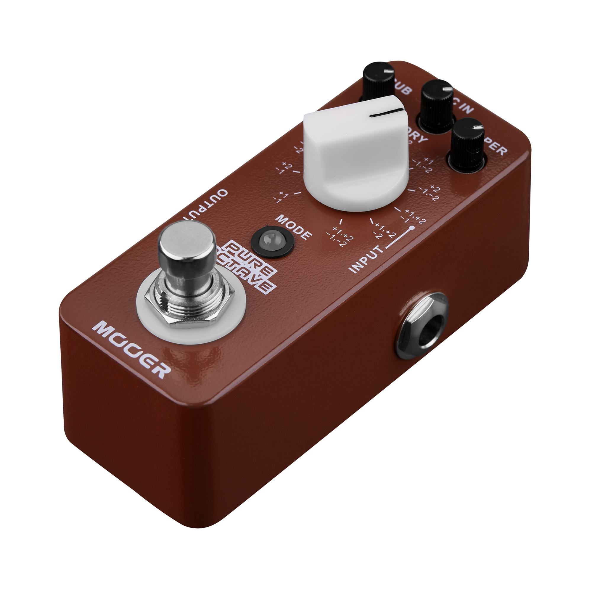 MOOER Pure Octave Electric Guitar Pedal True Bypass Metal Shell 11 Different Octave MOC1 mooer ensemble queen bass chorus effect pedal mini guitar effects true bypass with free connector and footswitch topper
