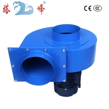 1.5kw 150mm diamter duct large industrial smoke exhaust centrfigual ventilation blower fan 380v 3ph motor 380v 270w industrial exhaust fan negative pressure blowers for factory greenhouse air ventilation fan device