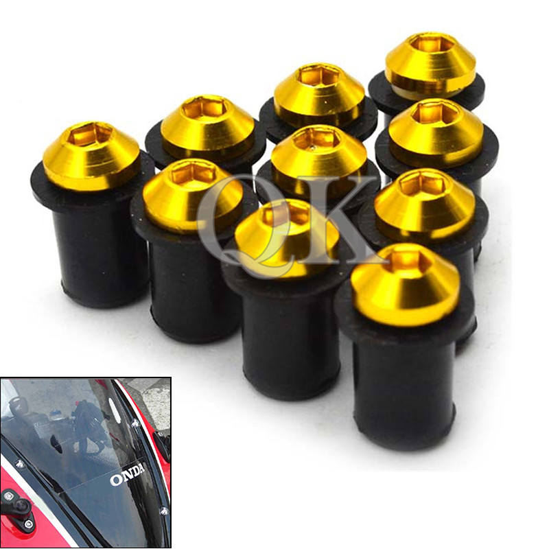 Motorcycl CNC Windscreen Windshield Bolts Screw Kit For HONDA CBR 125R 150R CBR125R 2004 - 2012 YAMAHA KTM BMW MSX125 Z800 Z750