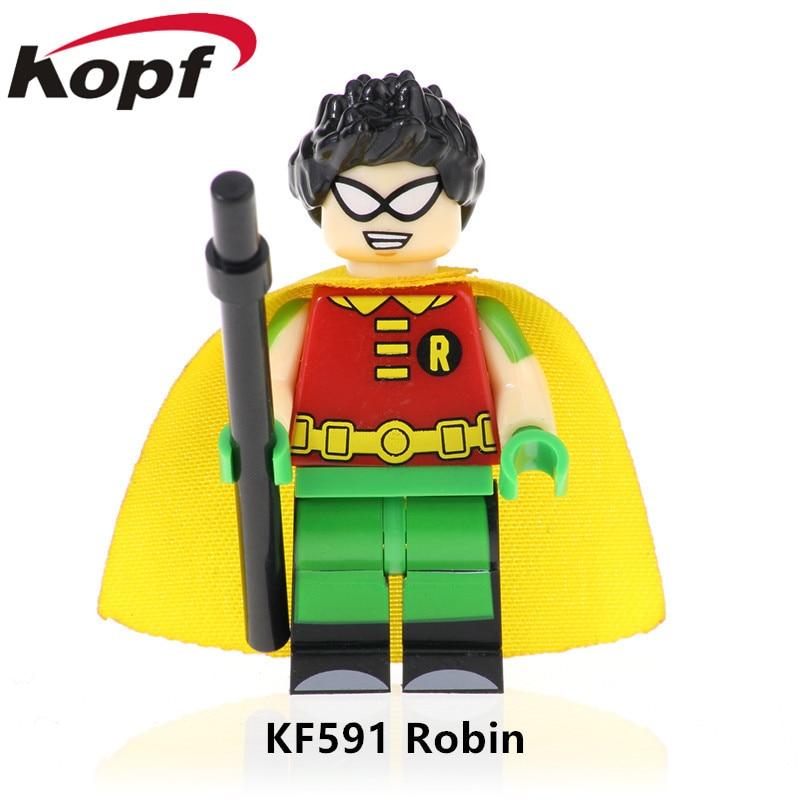 Image 4 - 5Pcs/Set KF6049 Building Blocks Teen Titans Series Figures Robin Raven Cyborg Beast Boy Model Action Bricks For Children Toys-in Blocks from Toys & Hobbies