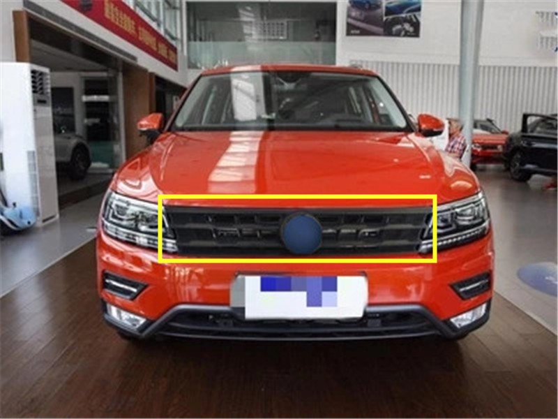 High quality authentic car Front Grille Around Trim Racing Grills Trim for Volkswagen Tiguan L 2017 2018 Car styling|Chromium Styling| |  - title=
