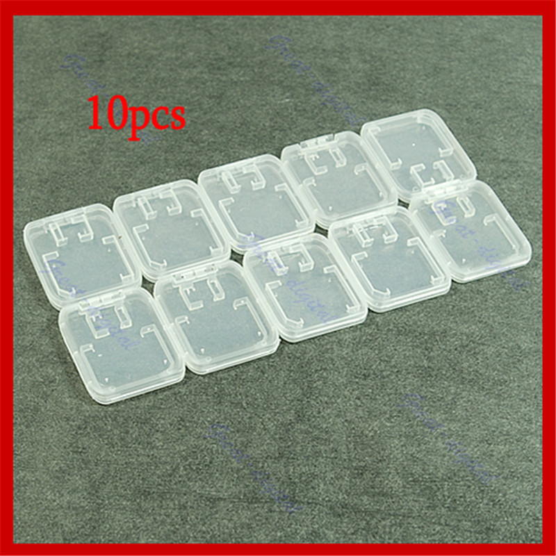 10 In 1 Portable Plastic TF SD SDHC Memory Cards Storage Box Holder Protector