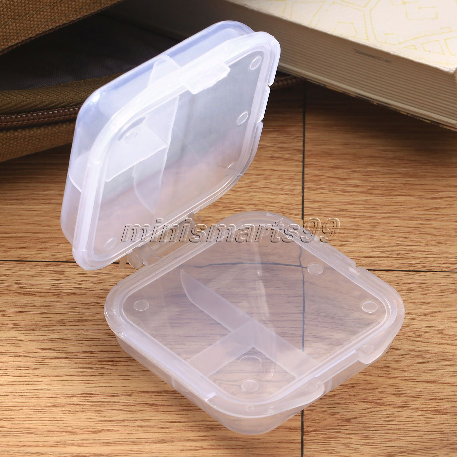 6 Slots 2 Layer Medicine Pill Drug Storage Box Folding Jewelry Candy Case Organizer Container Transparent Jewel Bead Case Cover