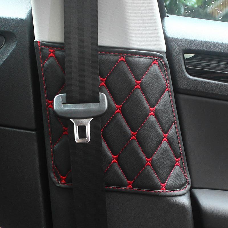 2PCS/Set Car Seat Safety Belt Protective Pad Crash Mat Cover For Skoda Kodiaq 2017 2018 2019 Interior Accessories Car Styling